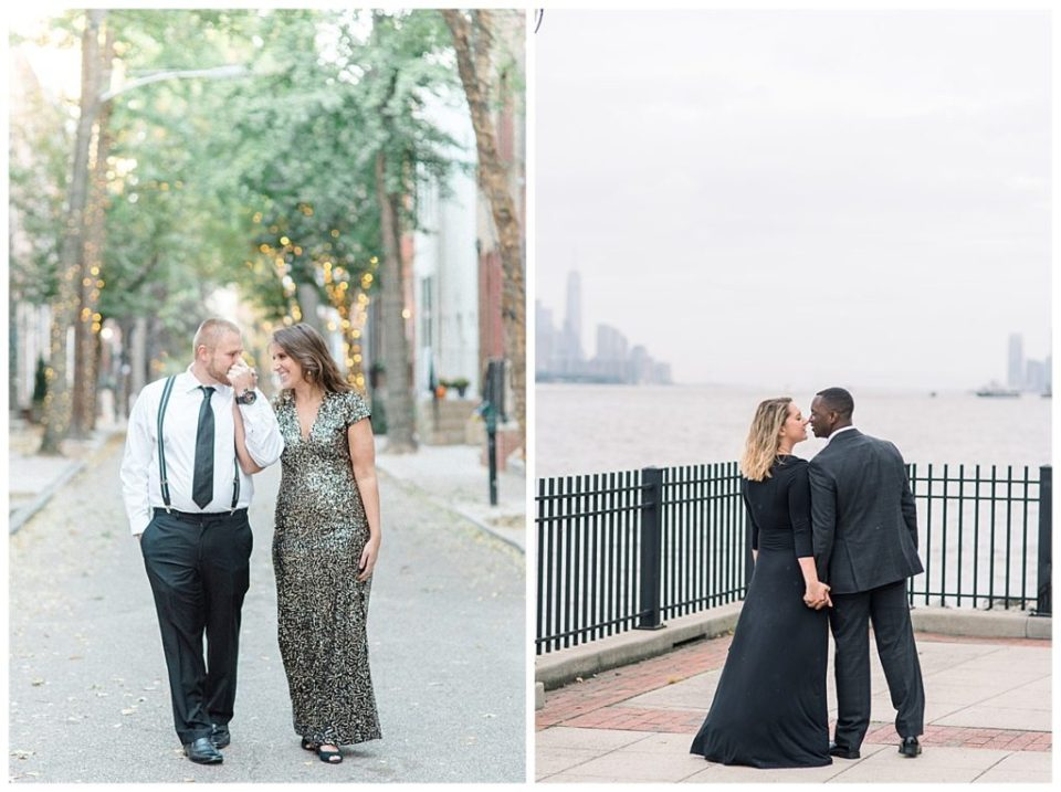 Winter Engagement Session in Philadelphia PA and West New York, NJ Photographed by Olivia Rae Photography, Philadelphia Wedding Photographer