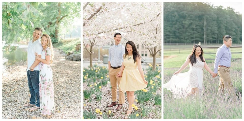 Spring Lavender Field Engagement Session in Philadelphia PA, Photographed by Olivia Rae Photography, Philadelphia Wedding Photographer
