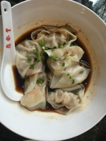 yummy wontons at Din Tai Feng. July.