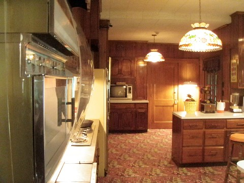 Graceland's kitchen. Home of the Gut Bomb.