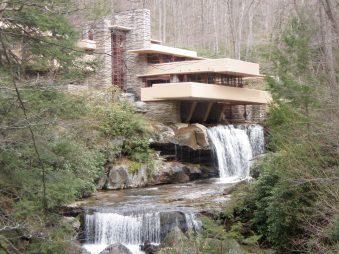 Fallingwater, a Frank Lloyd Wright's masterpiece in Mill Run, Pennsylvania