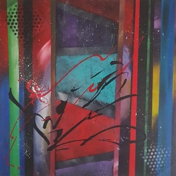 Tableau Color Window abstrait