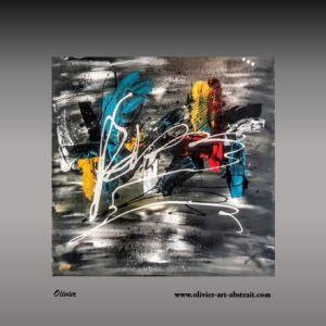 Gaia Tableau abstrait coloré