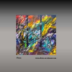 Kadjuri oeuvre abstraite colorée