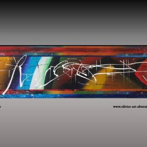 Graffiti Tableau abstrait coloré