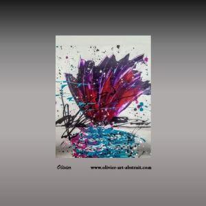 Priap Tableau abstrait coloré