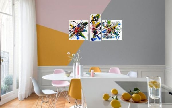 Twister Tableau abstrait coloré