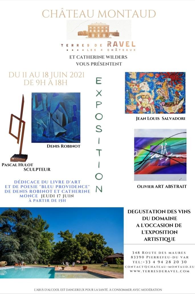 Exposition au Château Montaud Olivier art abstrait vous présente des tableaux muraux abstrait pour votre décoration d'intérieur