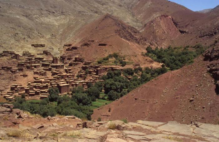 Le village de Megdaz, le 2 août 1994