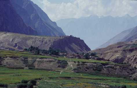 Le village de Hushe, le 21 août 1999