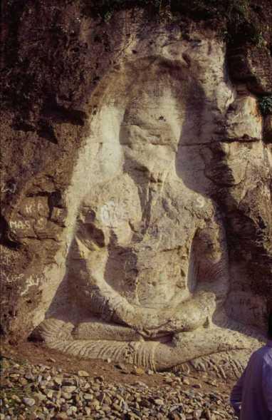 Bouddha sculpté à Mingaroa, le 24 août 1999