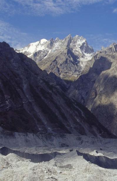 Le glacier de Charakusa, le 20 août 1999