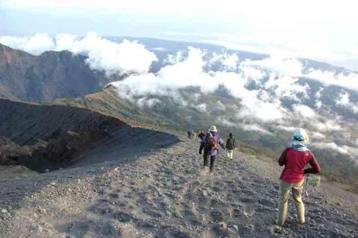 Redescente du mont Rinjani, le 12 juillet 2007