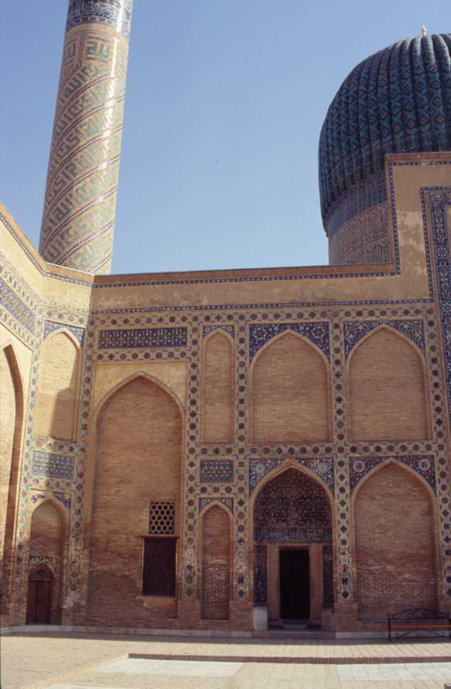 Le mausolée de Gour Émir à Samarcande, le 26 août 2004