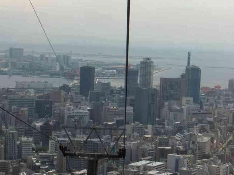 Kobé vue depuis le télécabine de Shin-Kobe