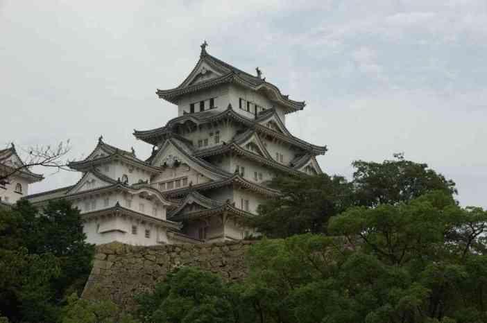 Le donjon du château d'Himeji, le 9 septembre 2007