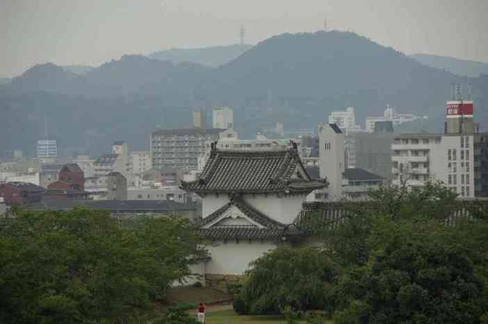 Vue sur la ville d'Himeji depuis son château (9 septembre 2007)