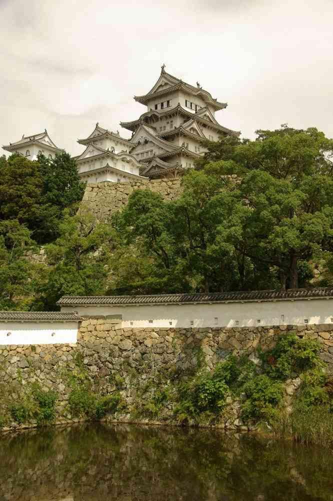 Vue générale du château d'Himeji, le 9 septembre 2007