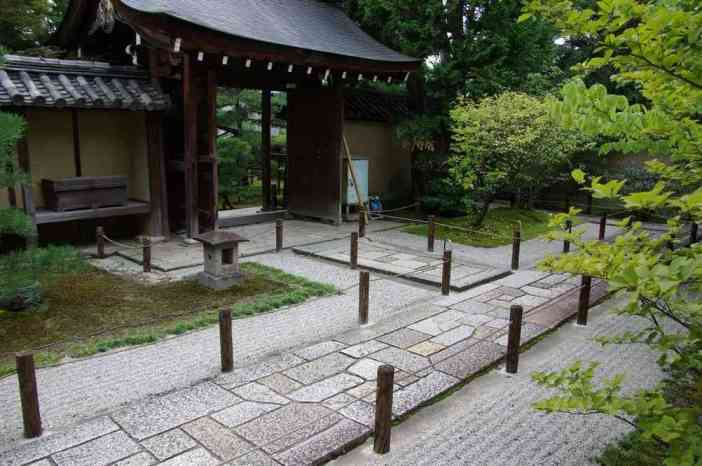 Accès au temple du Daisen-in (complexe du Daïtoku-ji), le 15 septembre 2007