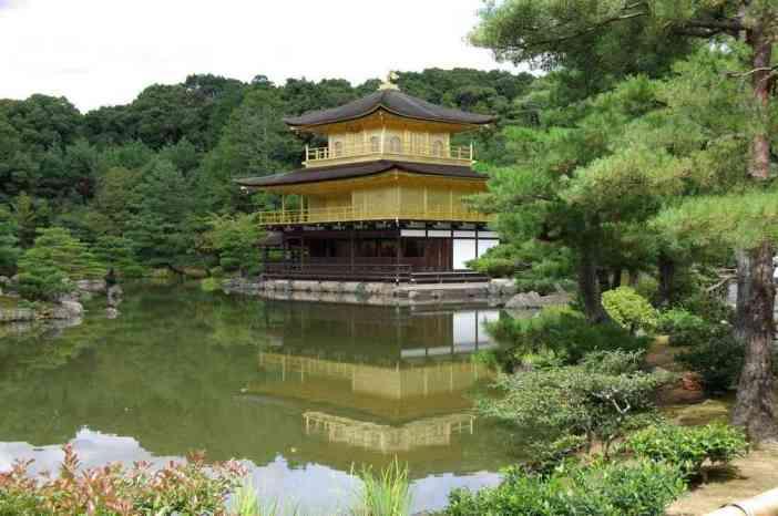 Le célèbre pavillon d'Or (Kinkaku-ji) de Kyōto (15 septembre 2007)