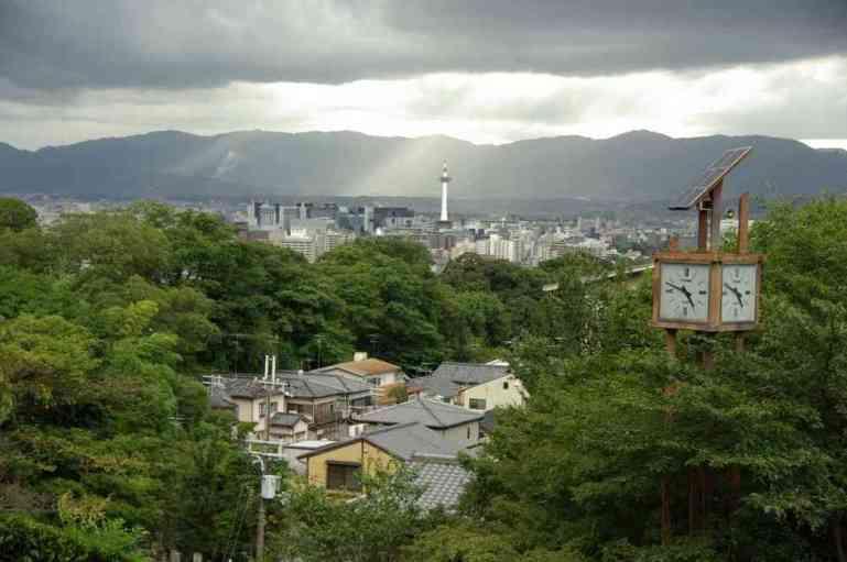 Kyōto vue du temple de Kiyomizu-dera, le 15 septembre 2007
