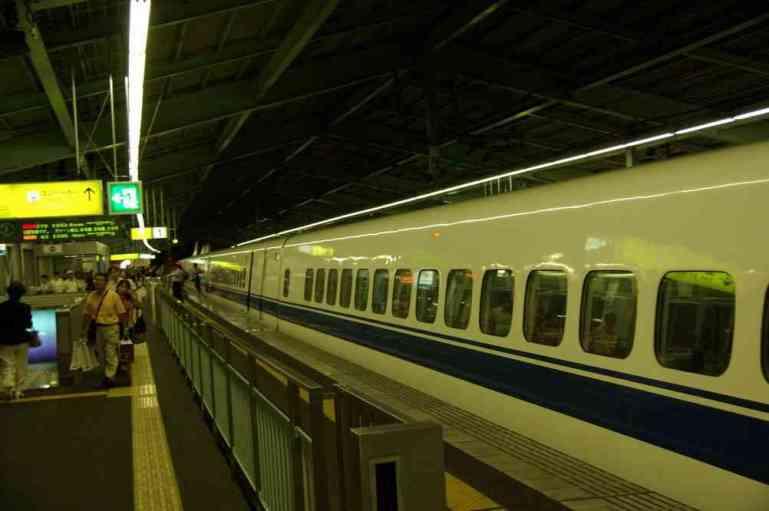 Retour de Kyoto à Kobé en Shinkansen, le soir du 15 septembre 2007