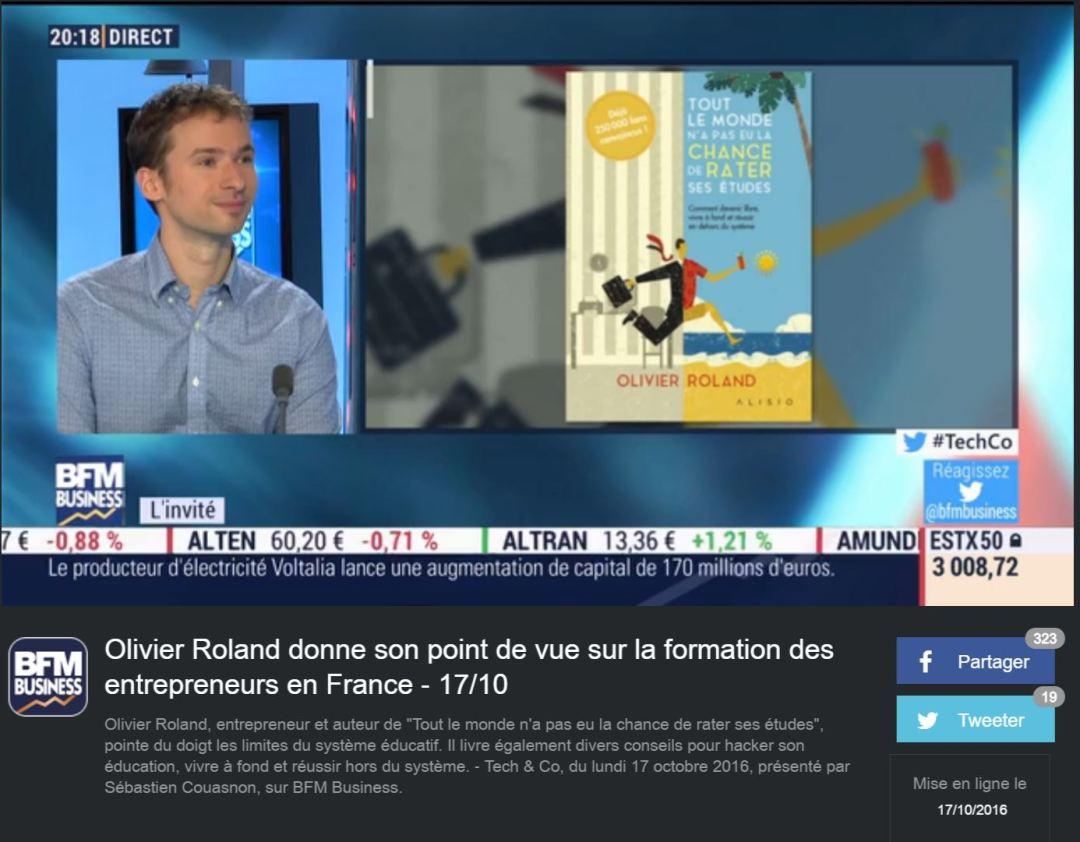 Olivier Roland sur BFM Business