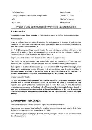 """Le projet """"Communauté"""" (page 1)"""