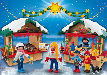 Un marché de Noël