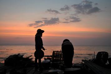 Sunset at the Fish Market