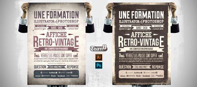 Tuto Créer une affiche Rétro / Vintage