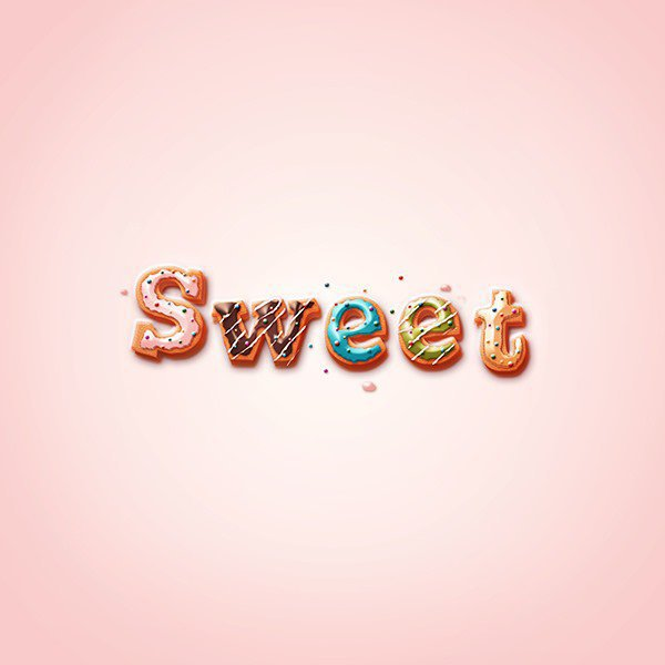 Tutoriel Photoshop texte Sweet