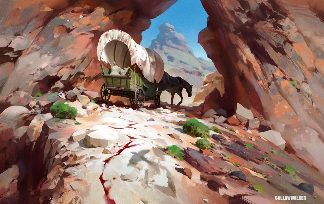 Gallowwalker. The road is uphill.