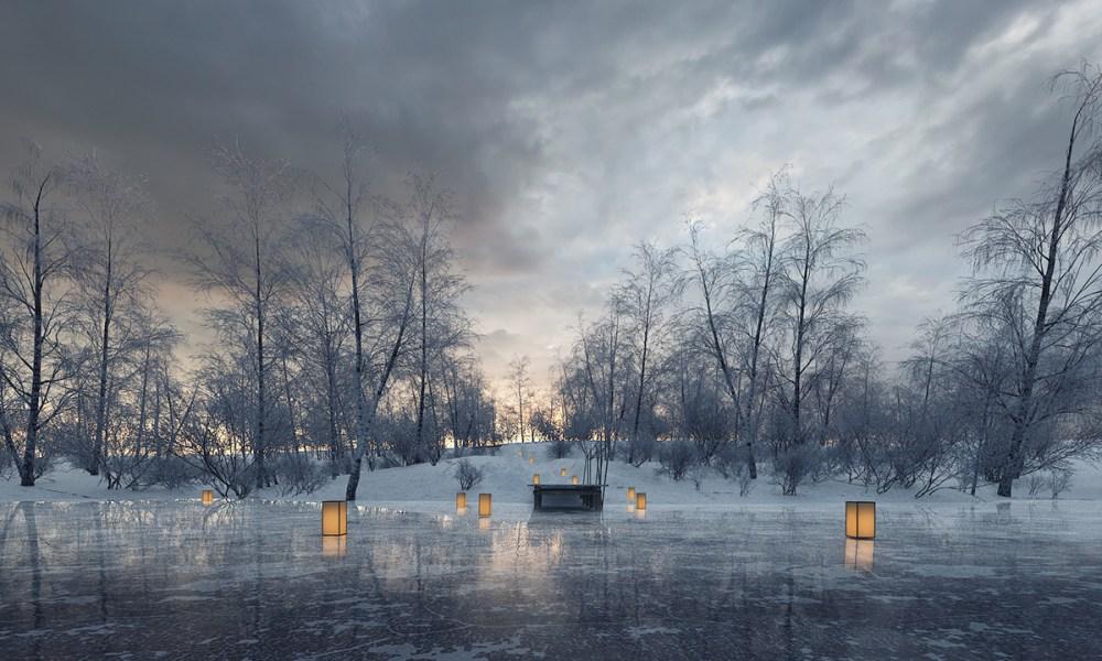 winter scenery 3d lukasz brzozowki