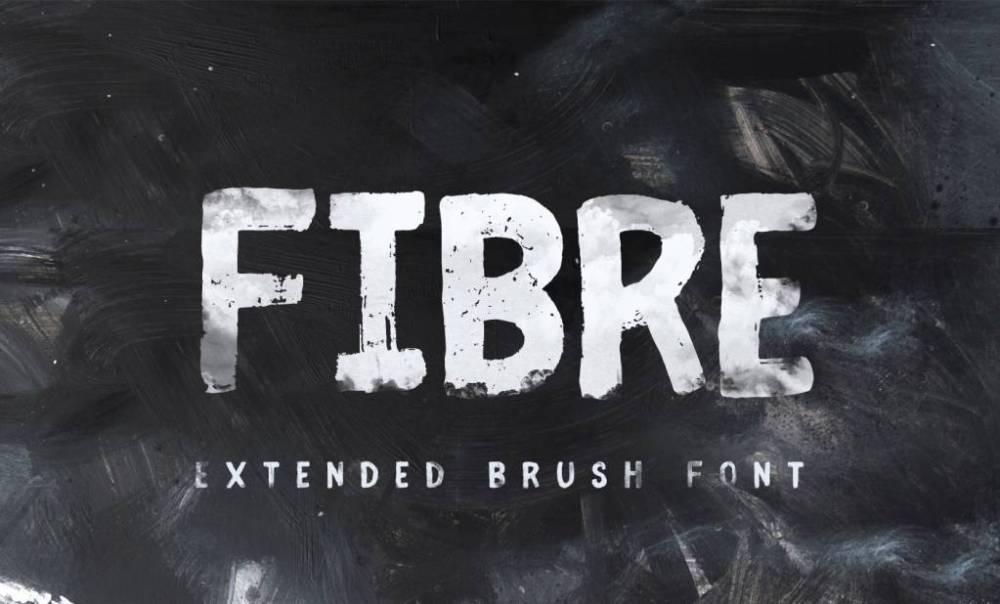 brush font fibre