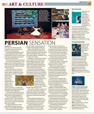 Tiré de «The standard» Hong-Kong newspaper