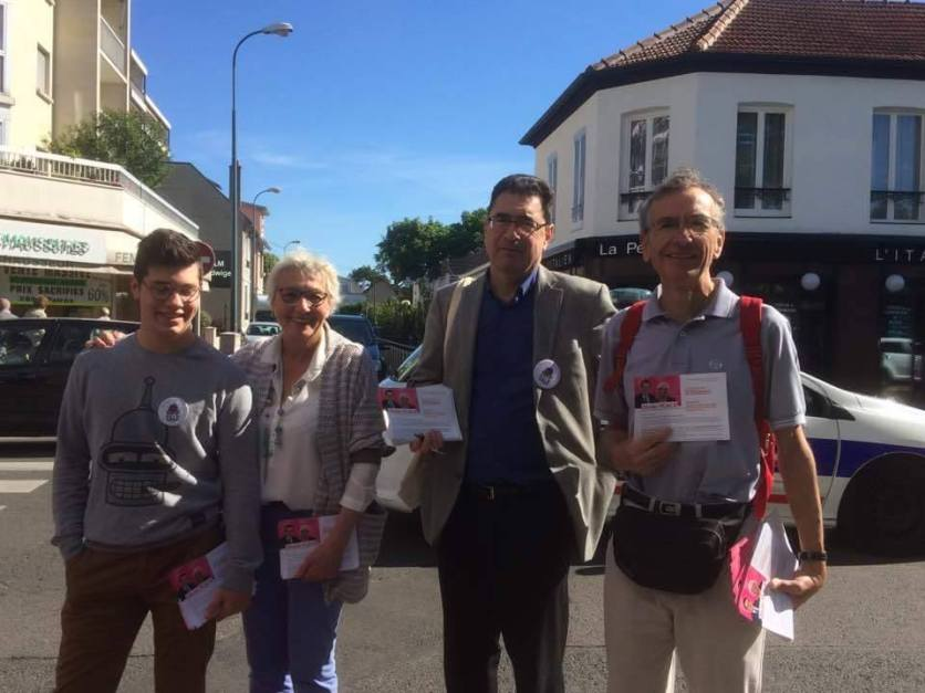 Les socialistes de Saint-Maur en campagne ce matin à La Varenne et au marché de La Pie