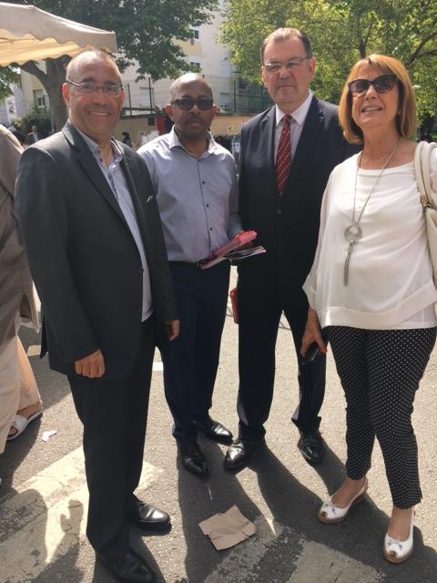 En campagne ce matin au marché du Mont-Mesly en compagnie de mon camarade Axel Urgin, candidat dans la 2e circonscription, et Josette Sol, adjointe au maire de Créteil et Conseillère départementale
