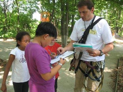 2012 American School orienteering course