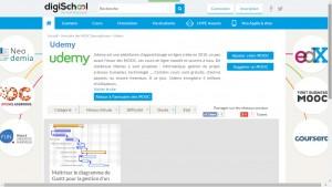 digischool.fr - le diagramme de Gantt sur Udemy.com