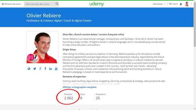 2000 étudiants / students sur Udemy