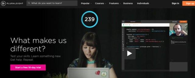 pluralsight.com - vidéo d'accueil