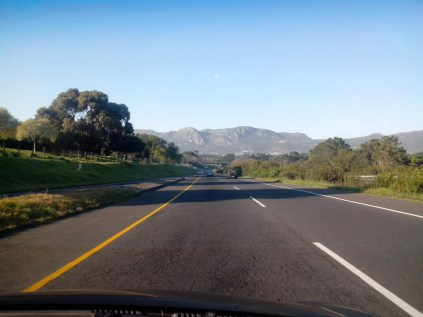 The drive to the surf on a sunny day - still not used to how pretty it is