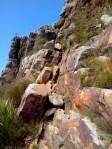 Part of the rock scrambling