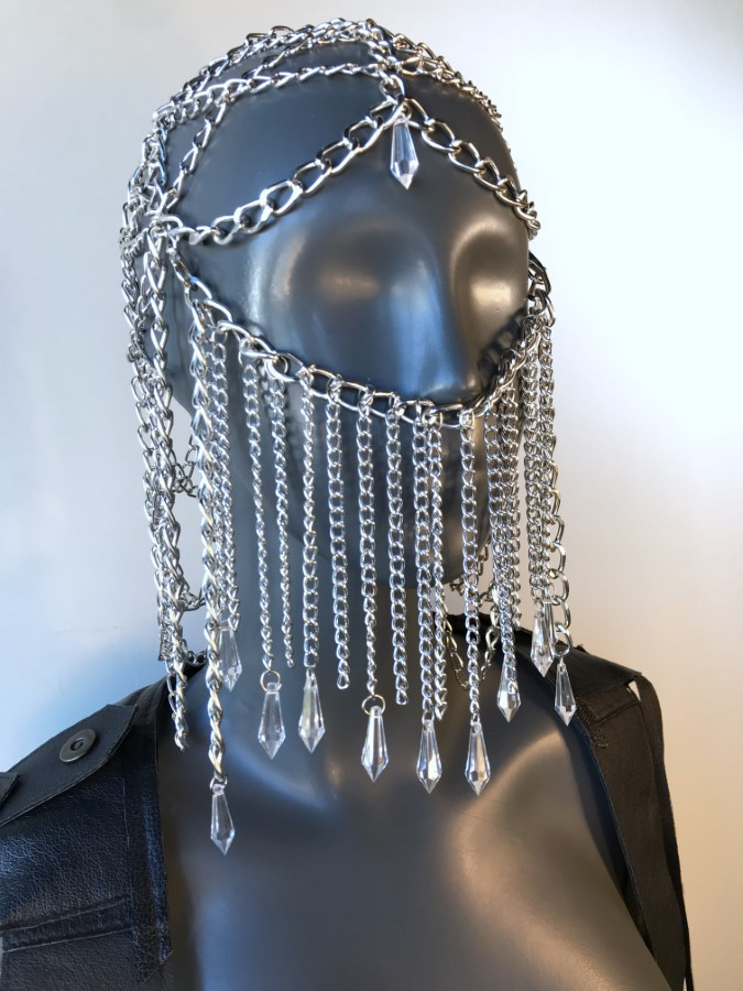 Face Mask Seherezada - silver chain