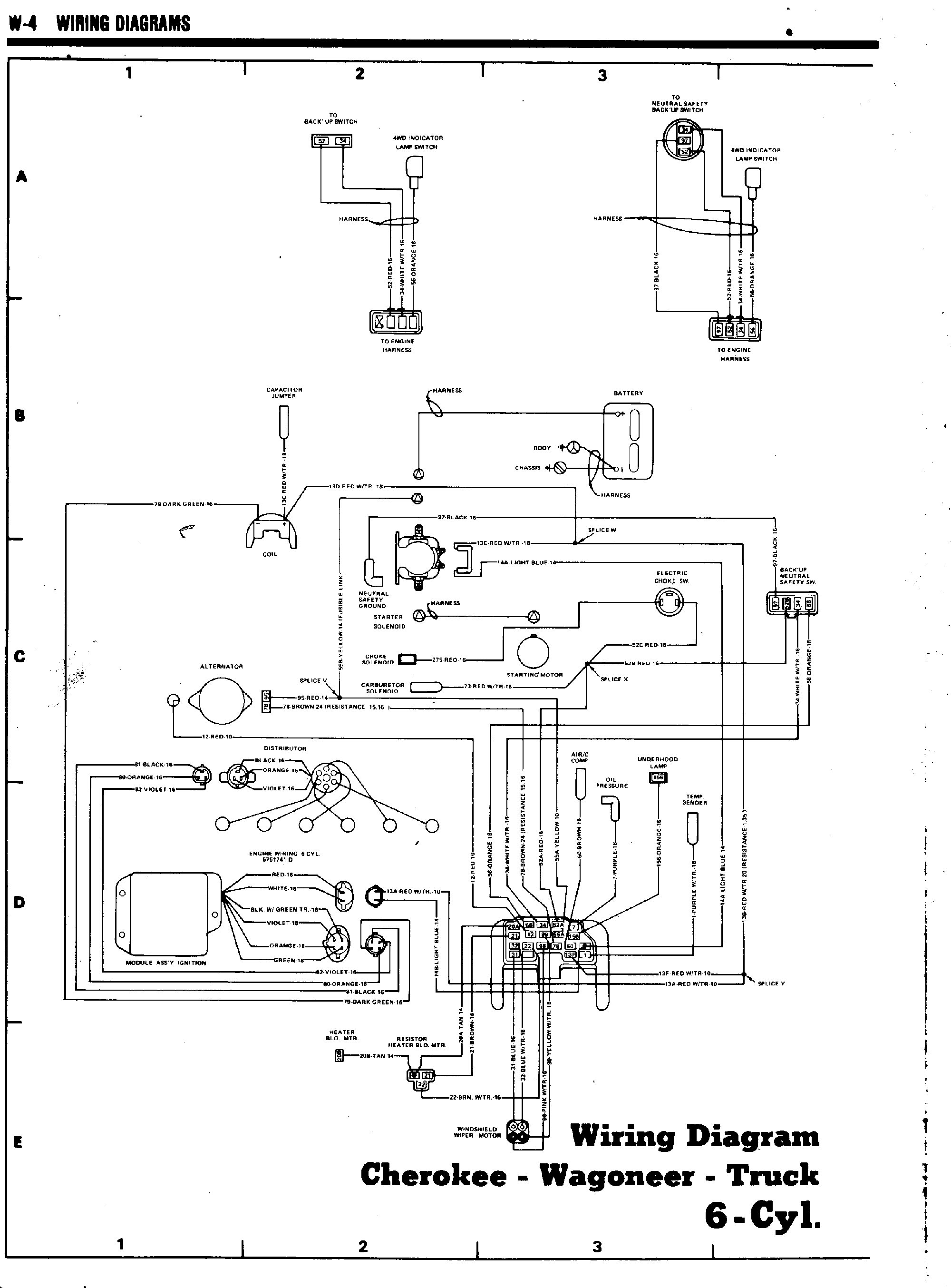 hight resolution of tom oljeep collins fsj wiring page rh oljeep com float switch wiring diagram amc 360 alternator wiring