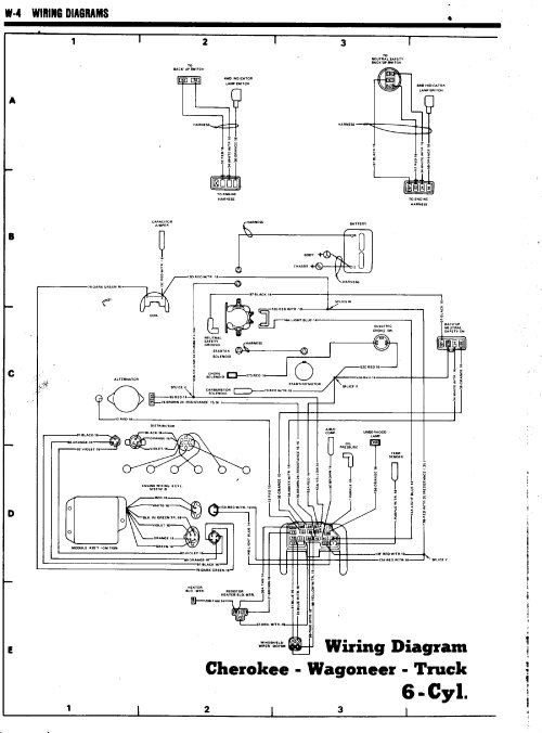 small resolution of tom oljeep collins fsj wiring page rh oljeep com float switch wiring diagram amc 360 alternator wiring