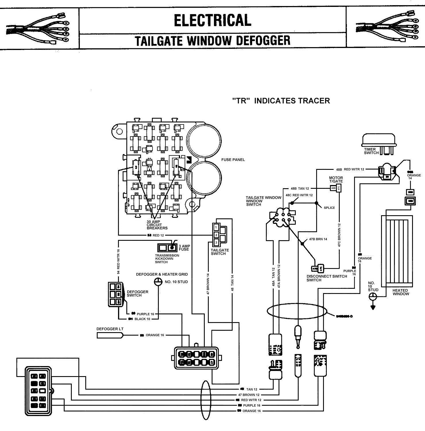 hight resolution of 1979 ford rear window wire diagram wiring diagram third level 1989 f150 wiring diagram 1989 suburban rear window wiring diagram