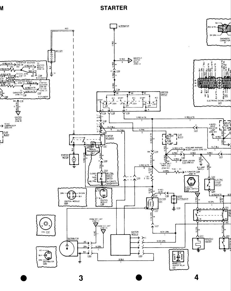 1986 Mercury Grand Marquis Wiring Diagram Lighting