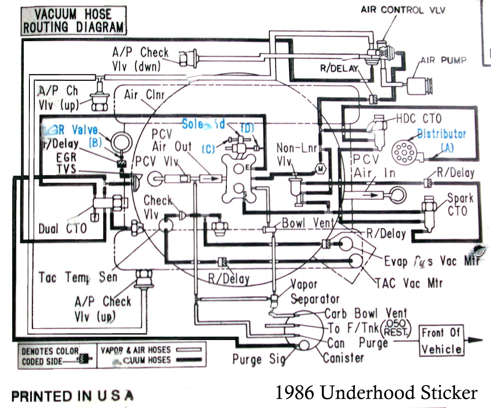 Corvette Vacuum Diagram Carb